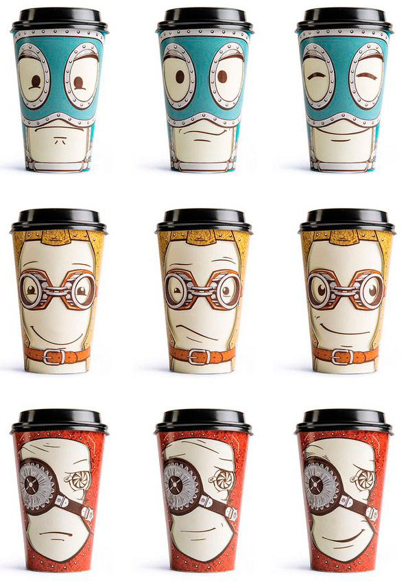 Take Away Coffee Cup by Backbone Creative #illustration