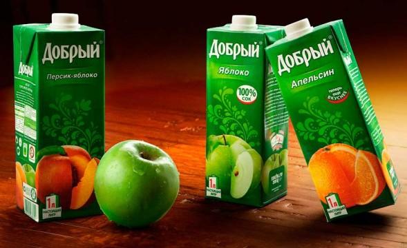 Дизайн упаковки сока Добрый