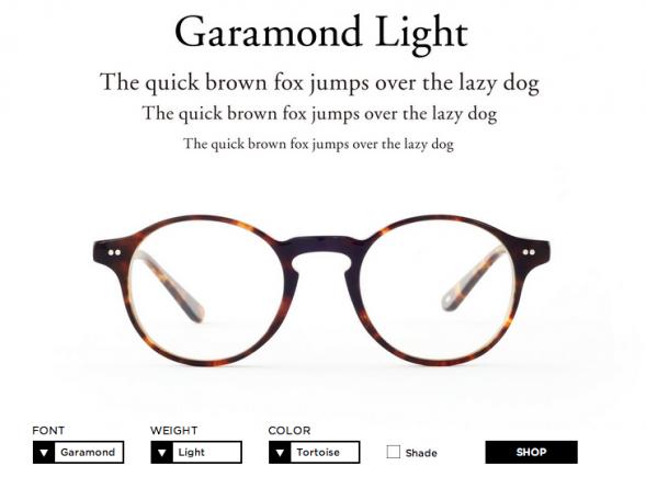 Креативные оправы для очков Type #typography