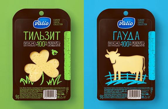 Редизайн сырной коллекции Valio
