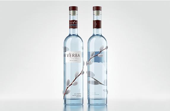 Концепт упаковки водки Verba