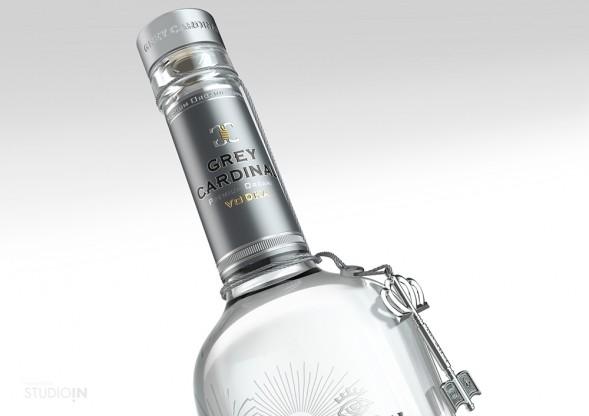 Дизайн упаковки водки Grey Cardinal