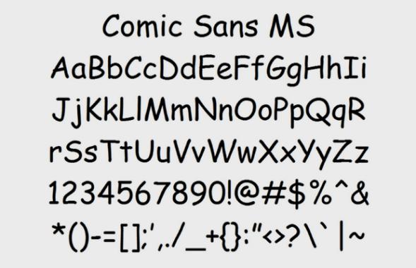 Как появился шрифт Comic Sans