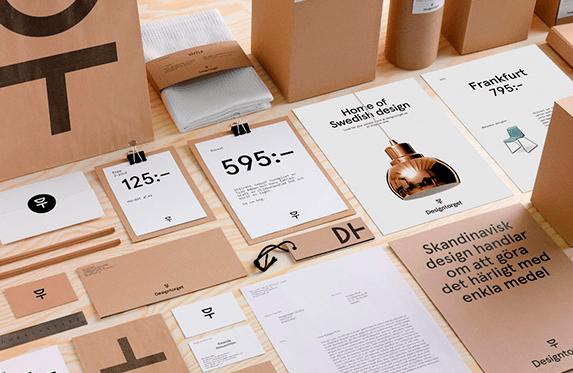 Фирменный стиль дома шведского дизайна Designtorget