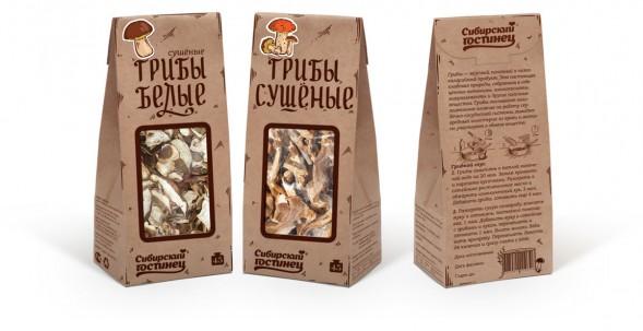 Дизайн упаковки линейки сушеных грибов