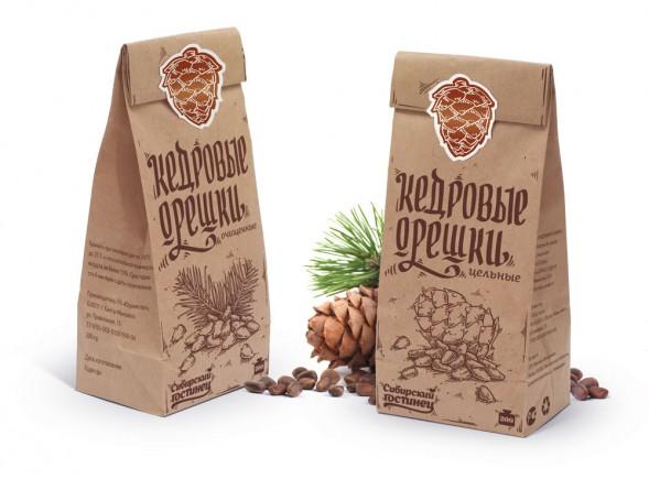 Дизайн упаковки линейки орехов