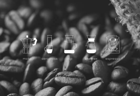 Айдентика кофейного бренда