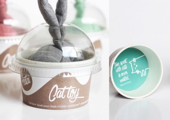 Дизайн упаковки игрушек для кошек