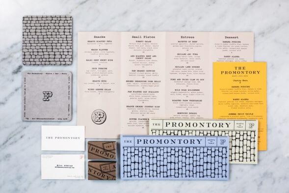 Фирменный стиль ресторана The Promontory