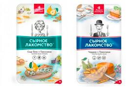 Дизайн упаковки сыра «Сырное Лакомство»