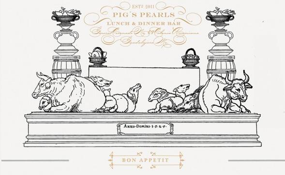 Фирменный стиль рестарана Pig Pearl`s