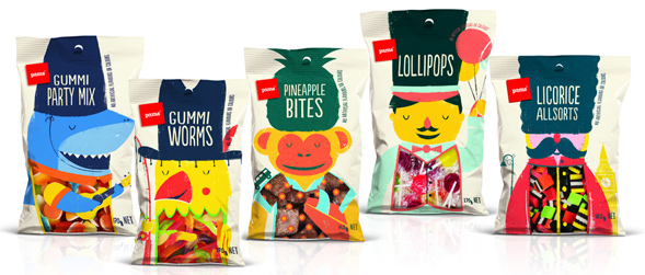 Дизайн упаковки конфет Pams Confectionery