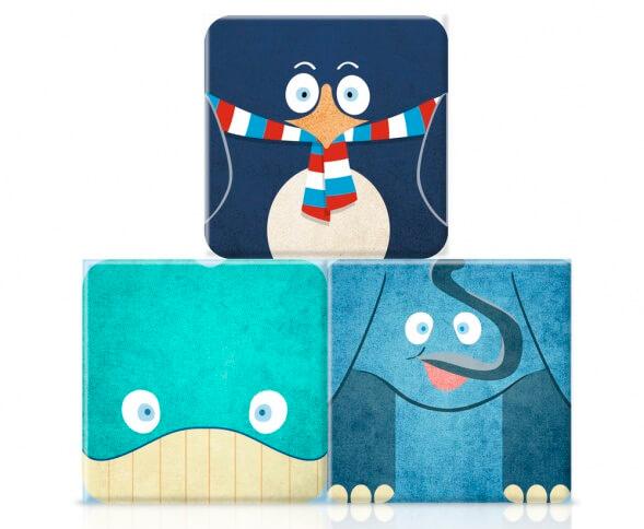 Дизайн упаковки салфеток Tesco Kid's Tissues