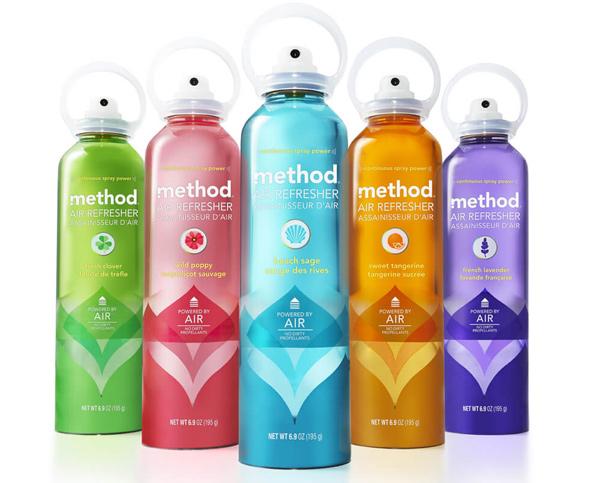 Дизайн упаковки освежителей воздуха Method Air Refreshers