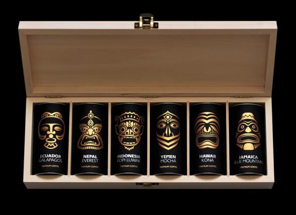 Дизайн упаковки кофе Exotic Coffee Collection