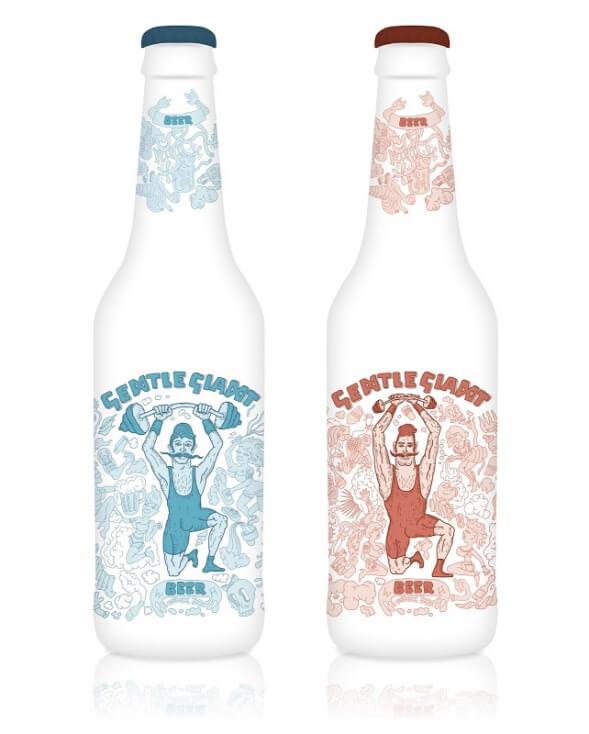 Дизайн упаковки пива Gentle Giant