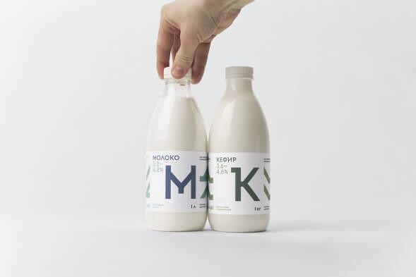 Дизайн молочных бутылок