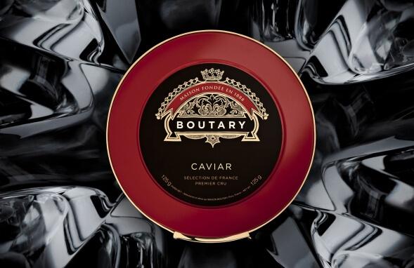 Дизайн упаковки икры The Maison Boutary