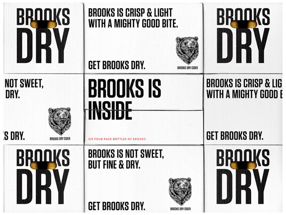 Дизайн упаковки сидра Brooks Dry Cider