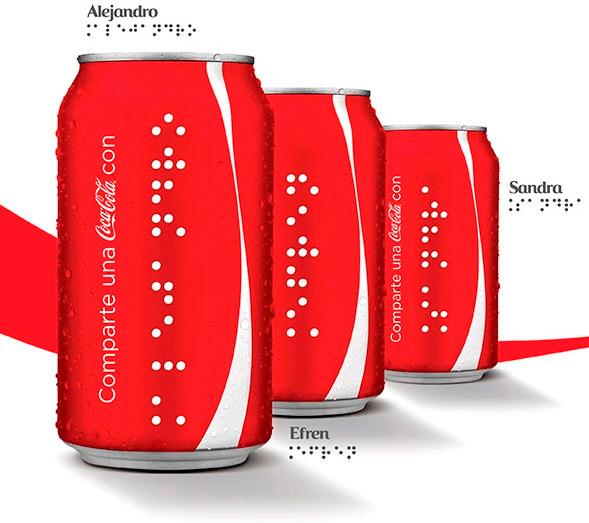 Coca-Cola начала выпуск упаковок для слабовидящих