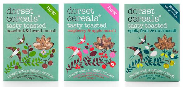 Дизайн упаковки мюсли Dorset Cereals