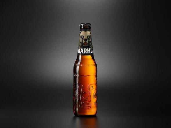 Дизайн упаковки пива Karhu