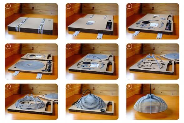 Картонная упаковка для лампы STEPpack