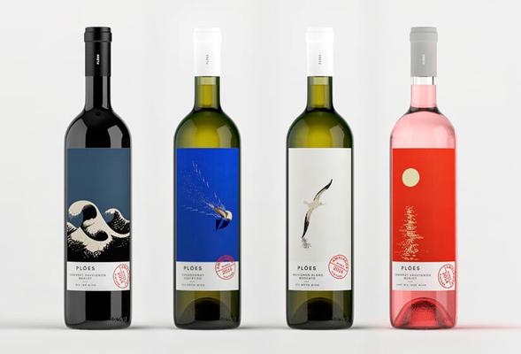 Дизайн этикетки вина Ploes Wine