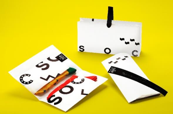 Дизайн упаковки носков Soc Tokyo
