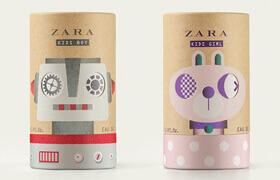 Дизайн упаковки детской парфюмерии ZARA Kids