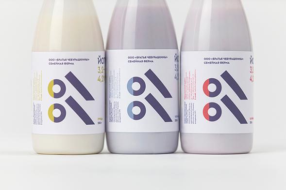 Дизайн упаковки йогурта Братья Чебурашкины