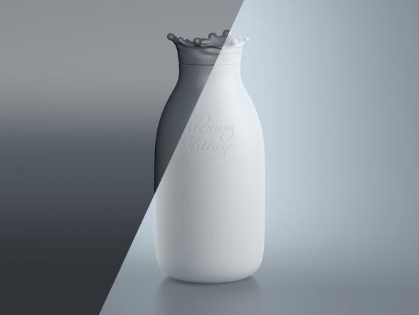 Концепт бутылки молока