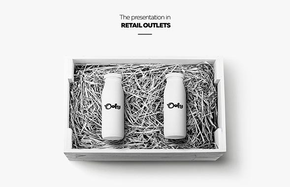 Концепт дизайна упаковки молока