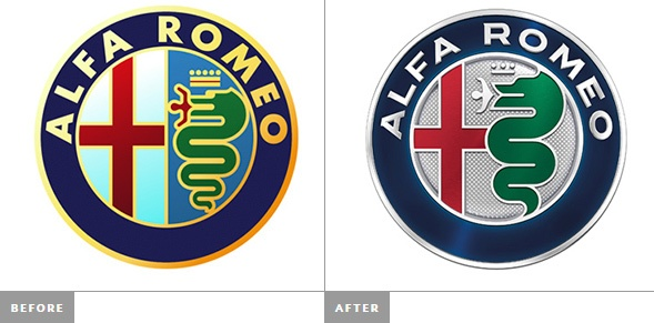 Редизайн логотипа Alfa Romeo