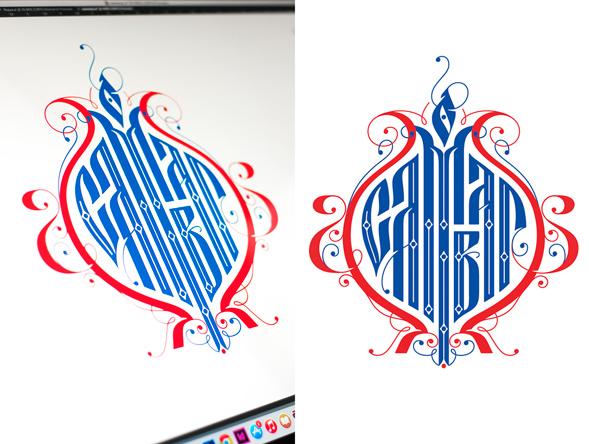 Работа над логотипом