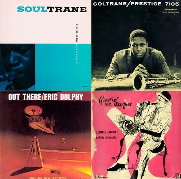 Обложки американских джазовых пластинок 50-х и 60-х