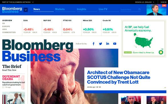 Редизайн Bloomberg