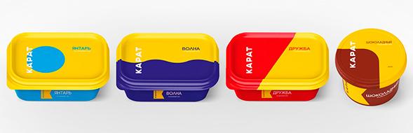Дизайн упаковки плавленого сыра Карат