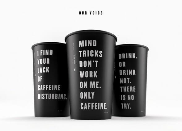 Концепт стакана для кофе