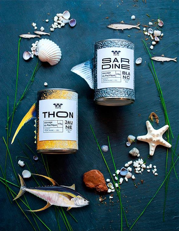 Дизайн упаковки рыбный консервов