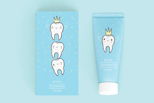 Дизайн упаковки детской зубной пасты